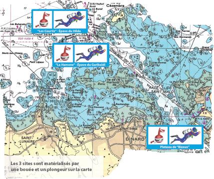 Carte 3 sites