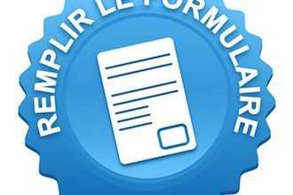 remplir le formulaire sur bouton web dent bleu